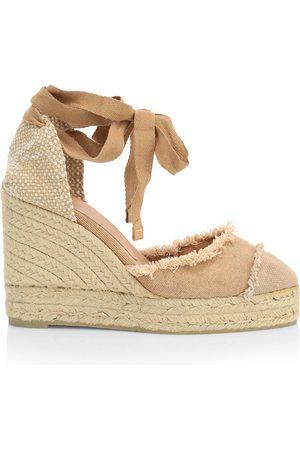Castaner Women's Catalina Canvas Platform Wedge Espadrilles - - Size 35 (5)