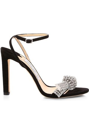 Jimmy Choo Women's Thyra Embellished Suede Sandals - - Size 41 (11)