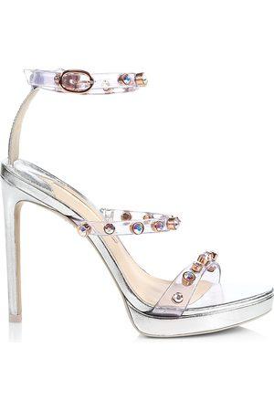 SOPHIA WEBSTER Women's Rosalind Embellished Vinyl & Metallic Leather Platform Sandals - - Size 39 (9)