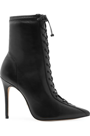 Schutz Women's Tennie Lace-Up Leather Boots - - Size 7
