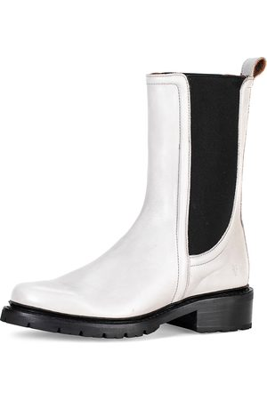 Frye Women's Samantha Mid-Calf Leather Chelsea Boots - - Size 7.5