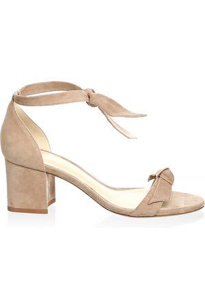 ALEXANDRE BIRMAN Women's Clarita Bow Suede Sandals - - Size 40.5 (10.5)