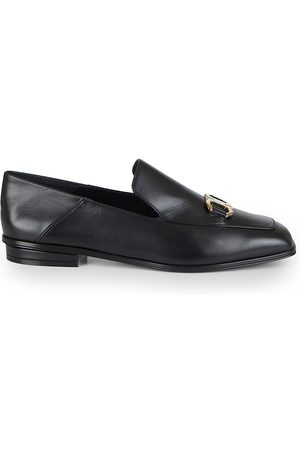 Salvatore Ferragamo Women's Cesaro Leather Driver Loafers - - Size 8.5 C