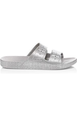 Freedom Moses Women's Glitter Plastic Pool Slides - - Size 40-41 (10-10.5) Sandals