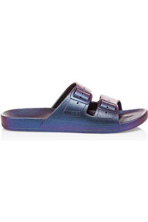 Freedom Moses Women's Metallic Plastic Pool Slides - - Size 11 Sandals