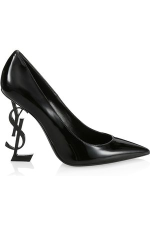 Saint Laurent Women's Opyum Point-Toe Patent Leather Pumps - - Size 35.5 (5.5)