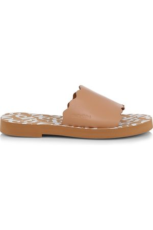 See by Chloé Women's Essie Leather Slides - - Size 41 (11) Sandals