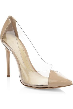 Schutz Women's Cendi Vinyl & Patent Leather Pumps - - Size 9