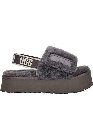 UGG Women's Disco Sheepskin Platform Slingback Slides - - Size 10 Sandals