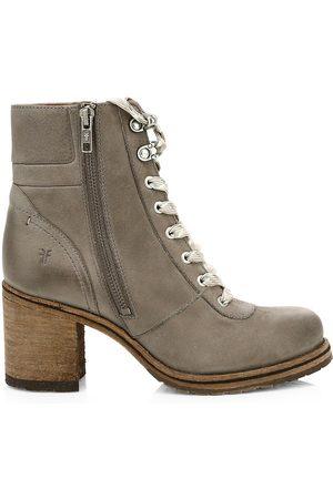 Frye Women's Karen Shearling & Leather Hiking Boots - - Size 9.5