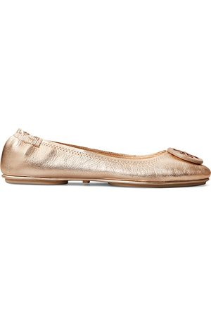 Tory Burch Women's Minnie Metallic Leather Ballet Flats - - Size 8.5
