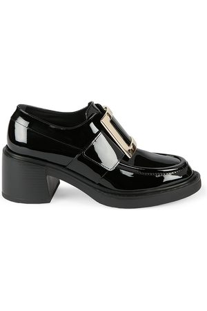 Roger Vivier Women's Viv Rangers Patent Leather Loafers - - Size 40.5 (10.5)