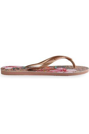 Havaianas Women's Slim Animal Floral Flip Flops - - Size 37-38 (7-8)