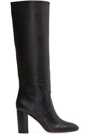 Loeffler Randall Women's Goldy Knee-High Leather Boots - - Size 10