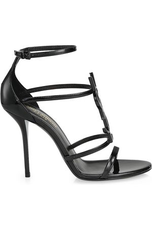 Saint Laurent Women's Cassandra Leather Sandals - - Size 41 (11)