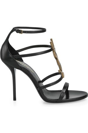 Saint Laurent Women's Cassandra Leather Sandals - - Size 34 (4)