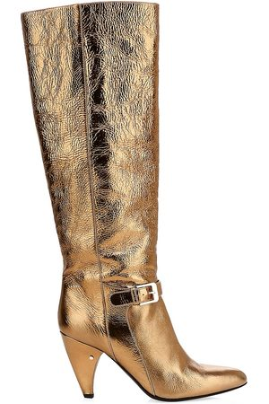 LAURENCE DACADE Women's Vlad Laminated Leather Tall Boots - - Size 35 (5)