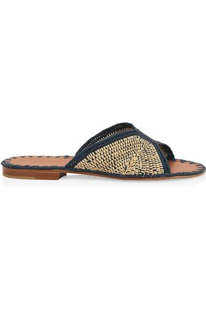 Carrie Forbes Women's Woven Raffia Slides - - Size 37 (7) Sandals
