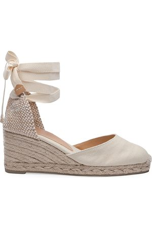 Castaner Women's Carina Canvas Wedge Espadrilles - - Size 37 (6.5)