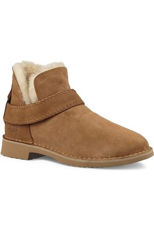 UGG Women's Mckay Sheepskin-Lined Suede Ankle Boots - - Size 9.5