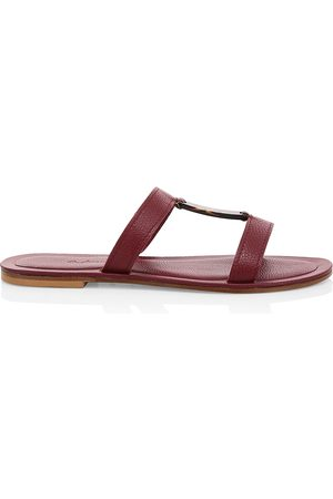 DEFINERY Women's Bar Flat Leather Sandals - - Size 38 (8)