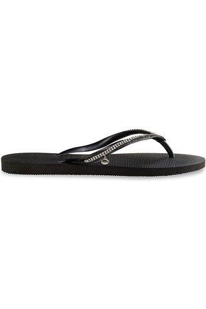 Havaianas Women's Slim Crystal Mesh Flip Flops - - Size 37-38 (7-8)