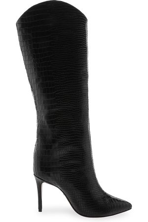 Schutz Women's Maryana Knee-High Croc-Embossed Leather Boots - - Size 11