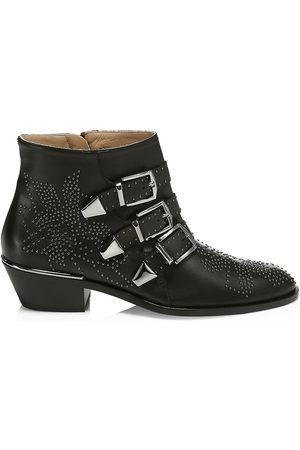 Chloé Women's Susanna Studded Leather Ankle Boots - - Size 41 (11)