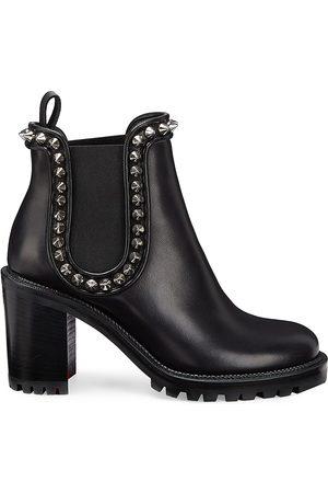 Christian Louboutin Women's Crapahutta 70 Leather Spike Booties - - Size 40.5 (10.5)