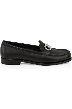 Salvatore Ferragamo Women's Rolo Leather Loafers - - Size 6.5 C