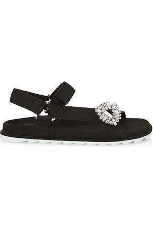 Roger Vivier Women's Trekky Viv Strass Sport Sandals - - Size 41 (11)