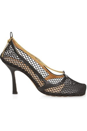 Bottega Veneta Women's Stretch Square-Toe Mesh Pumps - - Size 35.5 (5.5)