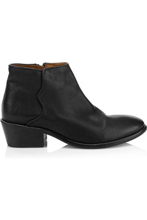 Frye Women Ankle Boots - Women's Carson Logo Leather Ankle Boots - - Size 9