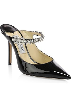 Jimmy Choo Women's Bing Embellished Patent Leather Mules - - Size 42 (12)