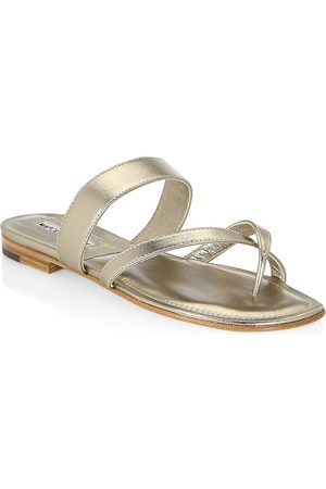 Manolo Blahnik Women's Susa Leather Thong Sandals - - Size 35 (5)