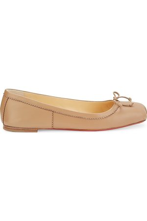 Christian Louboutin Women's Mamadrague Square-Toe Leather Ballet Flats - - Size 35.5 (5.5)