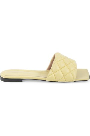Bottega Veneta Women's Padded Leather Flat Sandals - - Size 35.5 (5.5)