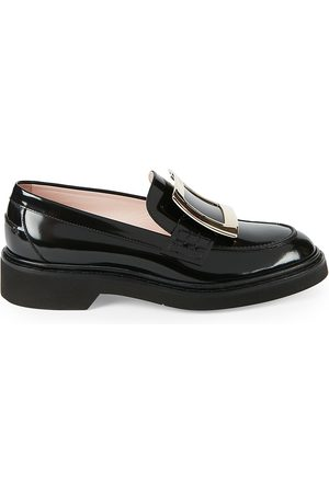 Roger Vivier Women's Viv Rangers Patent Leather Loafers - - Size 40 (10)