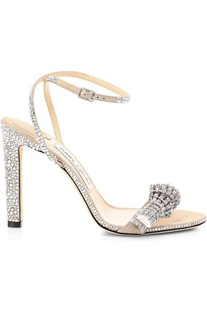 Jimmy Choo Women's Thyra Embellished Suede Sandals - - Size 40 (10)