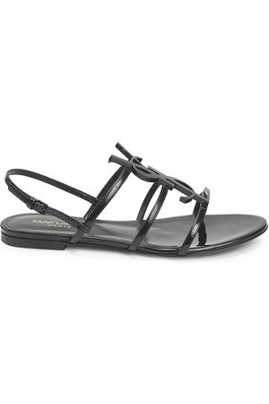 Saint Laurent Women's Cassandra Patent Leather Slingback Sandals - - Size 35.5 (5.5)