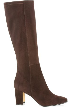 Manolo Blahnik Women's Pita Tall Suede Boots - - Size 35.5 (5.5)