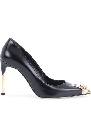 Alexander McQueen Women's Spiked Leather Pumps - - Size 38.5 (8.5)