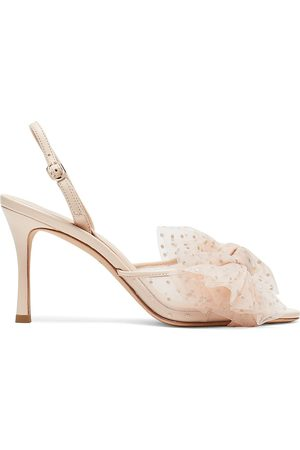 Kate Spade Women's Bridal Sparkle Tulle & Leather Slingback Sandals - - Size 6.5