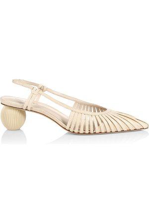 Cult Gaia Women's Alia Bauble-Heel Slingback Pumps - - Size 39.5 (9.5)