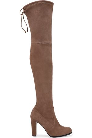 Stuart Weitzman Women's Highland Over-The-Knee Suede Boots - - Size 7.5