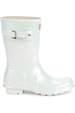 Hunter Women's Original Nebula Iridescent Rain Boots - - Size 9