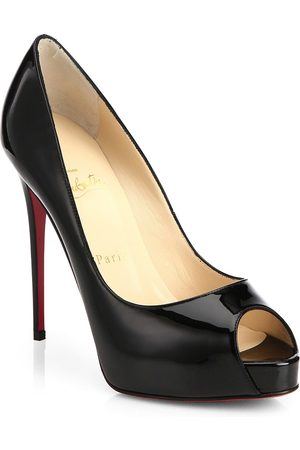 Christian Louboutin Women's New Very Prive 120 Patent Leather Peep Toe Pumps - - Size 42 (12)