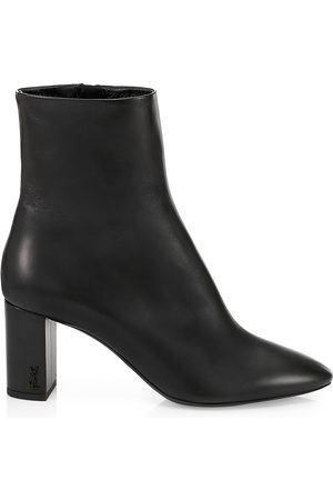 Saint Laurent Women's Lou Leather Ankle Boots - - Size 42 (12)