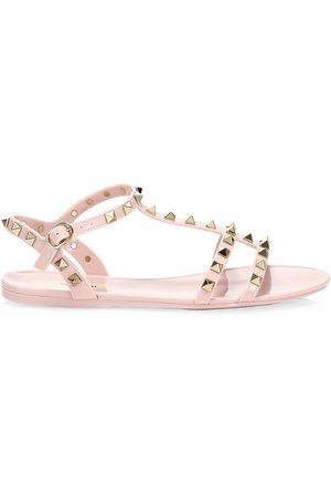 VALENTINO Women Sandals - Women's Garavani Rockstud PVC Gladiator Sandals - - Size 40 (10)