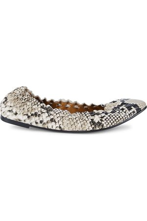 See by Chloé Women's Jane Python-Embossed Ballet Flats - - Size 39.5 (9.5)